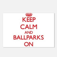 Keep Calm and Ballparks O Postcards (Package of 8)