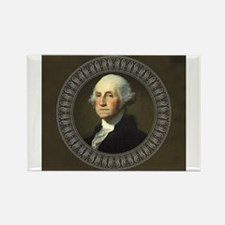 Cute George washington Rectangle Magnet