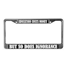 Education Teaching License Plate Frame