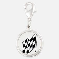 Checkered Racing Flag Charms