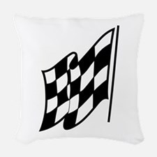 Checkered Racing Flag Woven Throw Pillow