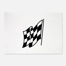 Checkered Racing Flag 5'x7'Area Rug