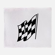 Checkered Racing Flag Throw Blanket