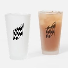 Checkered Racing Flag Drinking Glass