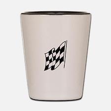 Checkered Racing Flag Shot Glass