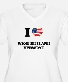 I love West Rutland Vermont Plus Size T-Shirt