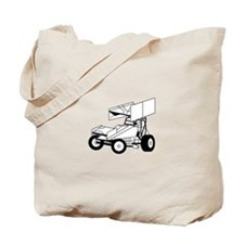 Sprint Car Outline Tote Bag