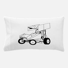 Sprint Car Outline Pillow Case