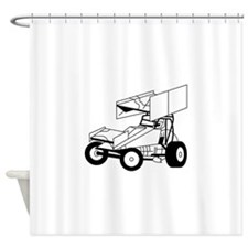 Sprint Car Outline Shower Curtain