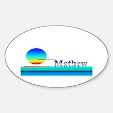 Mathew Oval Decal