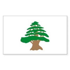 Cedar Tree Rectangle Decal