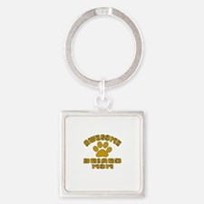 Awesome Briard Mom Dog Designs Square Keychain