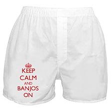Keep Calm and Banjos ON Boxer Shorts