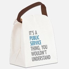 Public Service Thing Canvas Lunch Bag