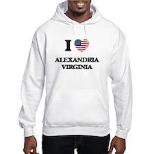 I love Alexandria Virginia Hoodie Sweatshirt
