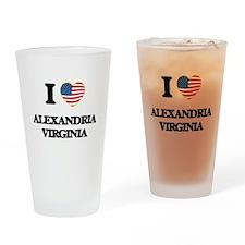 I love Alexandria Virginia Drinking Glass