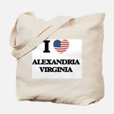 I love Alexandria Virginia Tote Bag