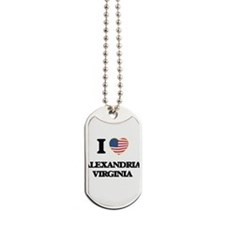 I love Alexandria Virginia Dog Tags