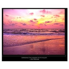 Inspirational Sunset With Zen Proverb Poster