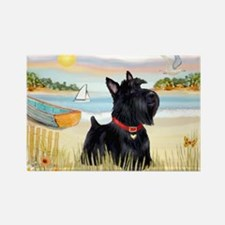 Rowboat & Scottie Rectangle Magnet