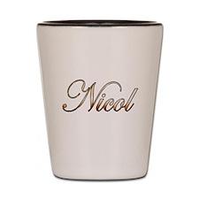 Gold Nicol Shot Glass