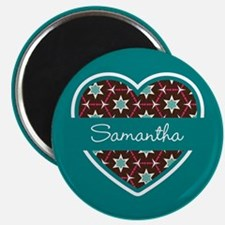 """Personalized Teal Heart Pa 2.25"""" Magnet (100 pack)"""