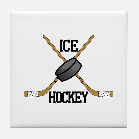 Ice Hockey Tile Coaster