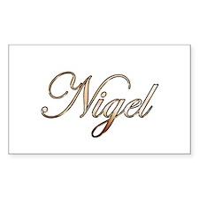 Gold Nigel Decal