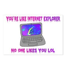 You're Like Internet Expl Postcards (Package of 8)