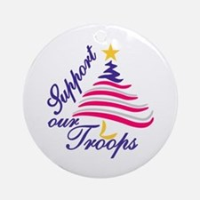 Support Our Troops Ornament (Round)