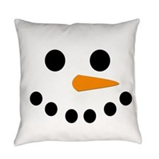 Snowman Face Everyday Pillow