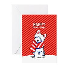 Westie Scarf Christmas Greeting Cards