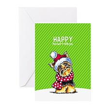 Yorkie Scarf Christmas Greeting Cards