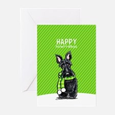Scottie Scarf Christmas Greeting Cards