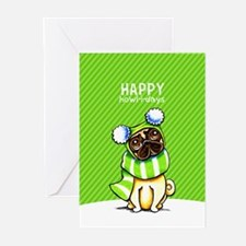 Pug Scarf Christmas Greeting Cards