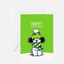 Parti Poodle Scarf Christmas Greeting Cards