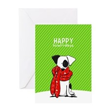 Jack Russell Mod Christmas Greeting Cards