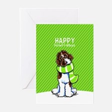 Parti Labradoodle Christmas Greeting Cards