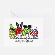 Dogs in Scarves Custom Greeting Cards