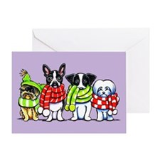 Dogs in Scarves Greeting Cards