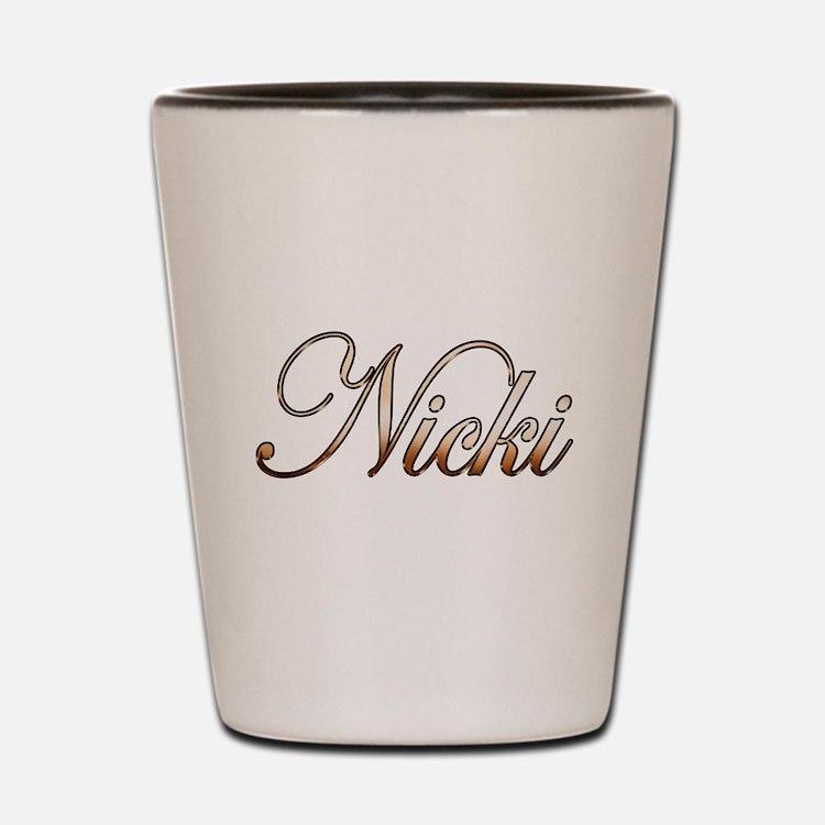 Gold Nicki Shot Glass