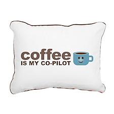 Coffee Is My Co-Pilot Rectangular Canvas Pillow