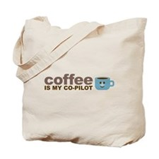 Coffee Is My Co-pilot Tote Bag