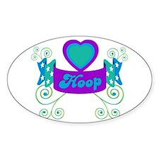 Hula Hoop Dance - Hoop Design in Purple Decal