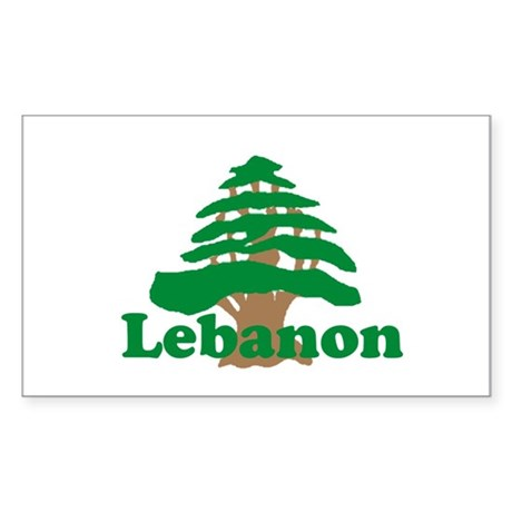 Cedar Tree Rectangle Sticker