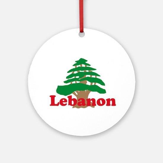 Cedar Tree Ornament (Round)