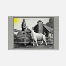 Goat-MorningSnack Rectangle Magnet