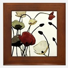 Poppies Framed Tile