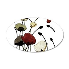 poppy wall decals poppy wall stickers amp wall peels red corn poppy flower wall stickers art decal mural room