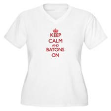 Keep Calm and Batons ON Plus Size T-Shirt